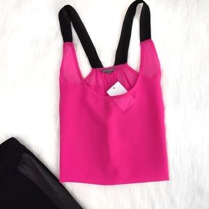 🆕 Charlotte Russe Hot Pink & Black Tank Top